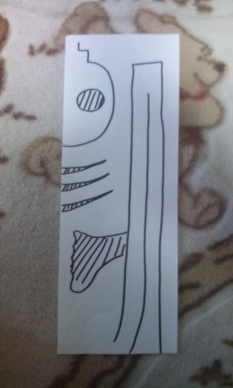 ガイコツちゃん型紙